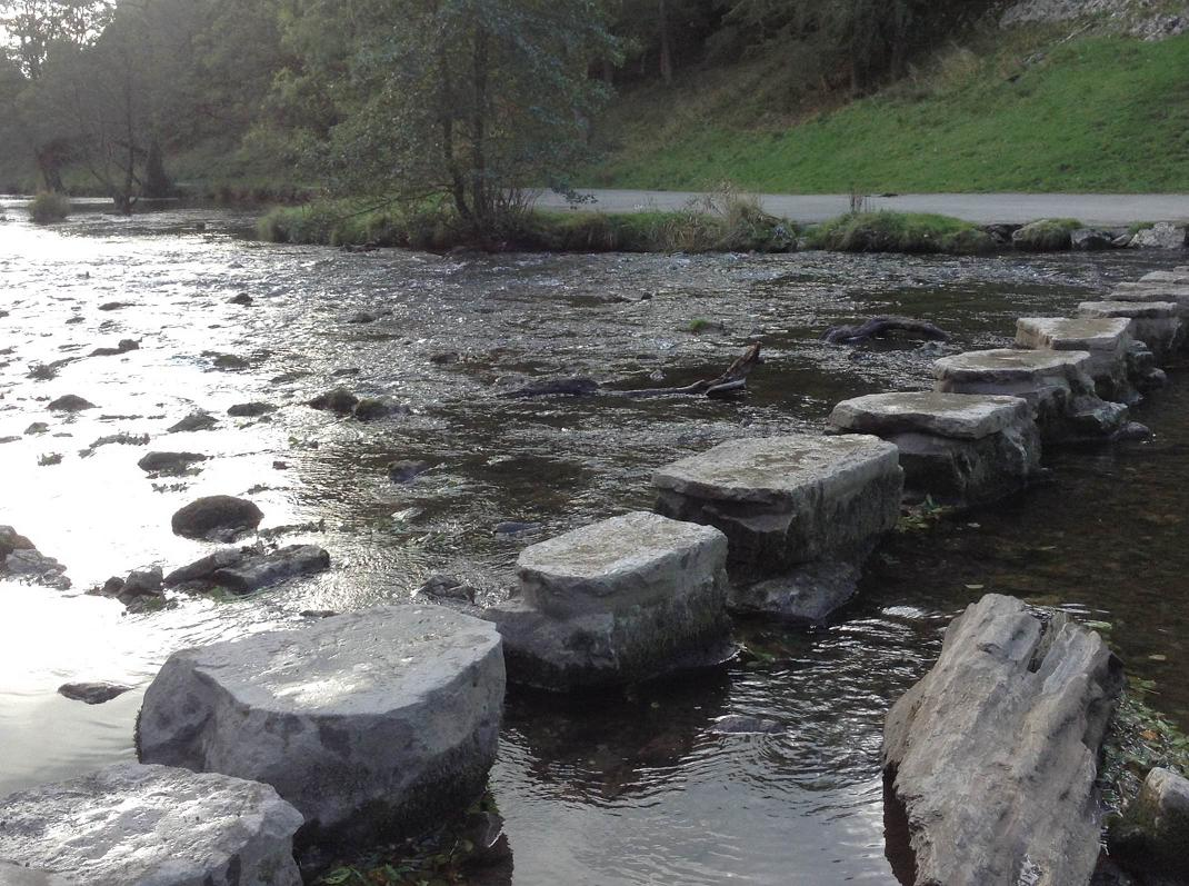 River crossing stepping stones