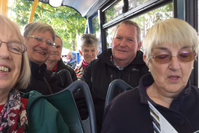Enjoying the Dublin Bus tour