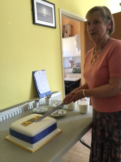 Cutting of the Birthday cake June 2018