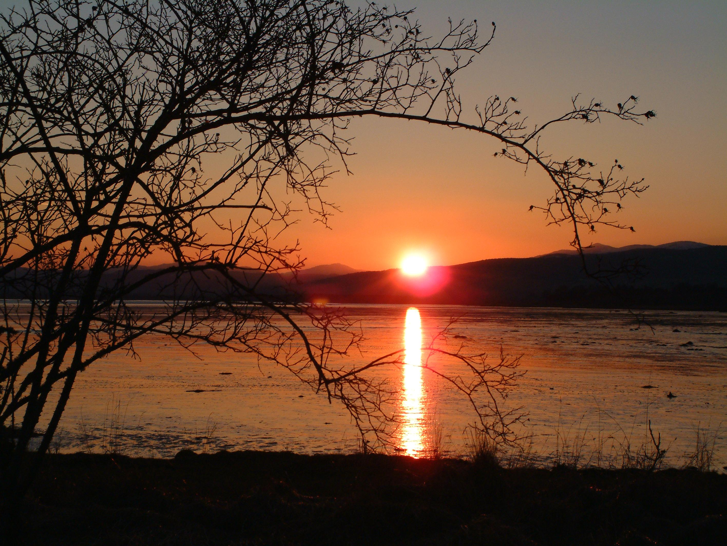 Sunset at Redcastle
