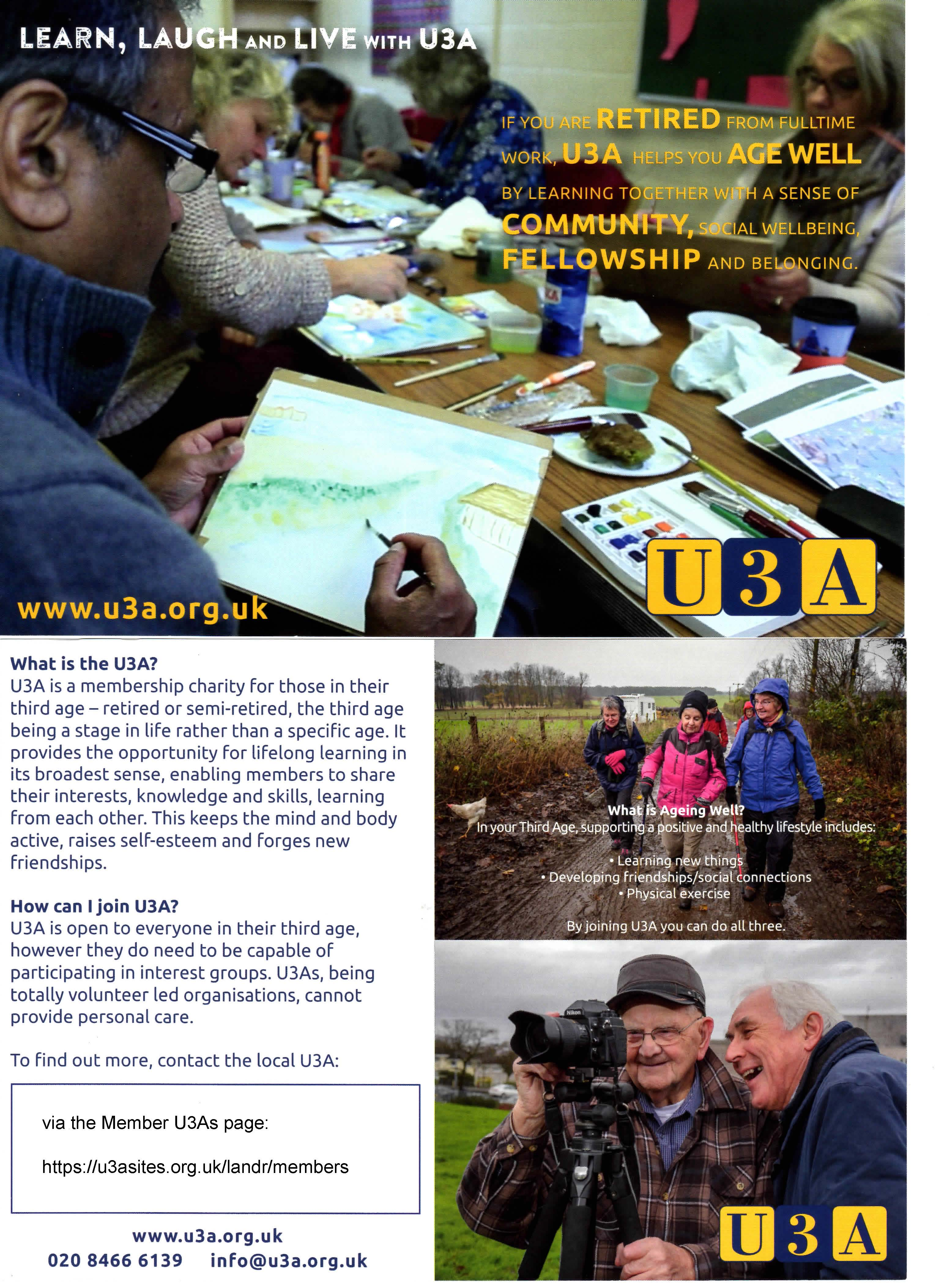 The U3A and You