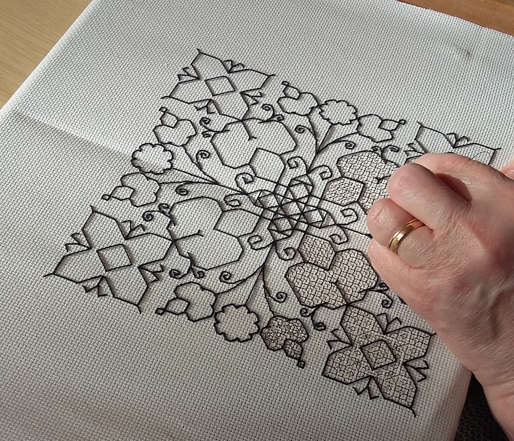 The Needlework Group Tries Blackwork