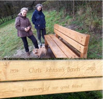 Bench Dedicated to Chris Johnson