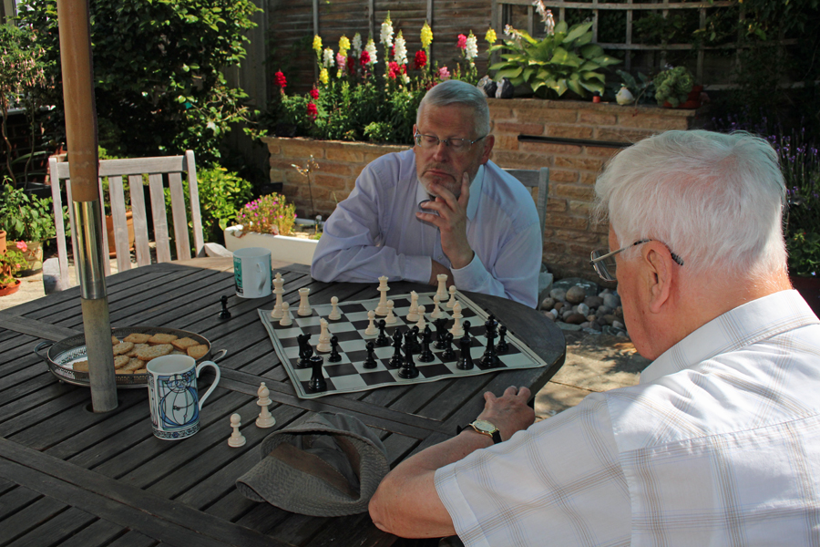 Chess in the sun