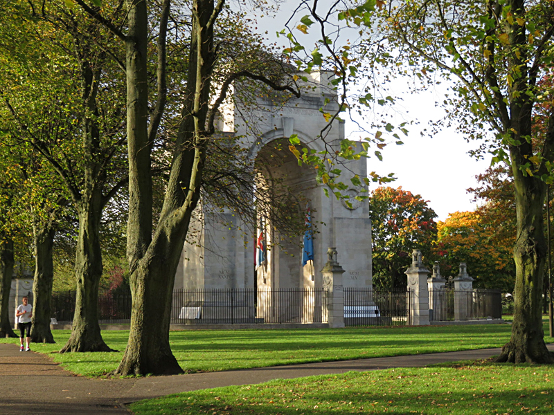 Leicester War Memorial in Victoria Park