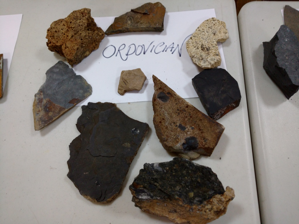 Rock samples from the activity on the We