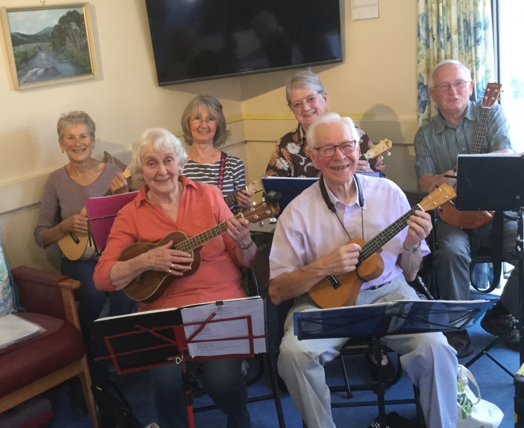 Some members of the Ukulele group