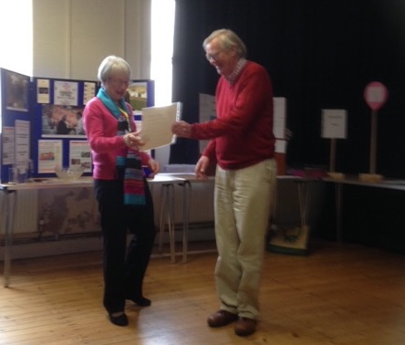 Presentation of U3A membership certifica