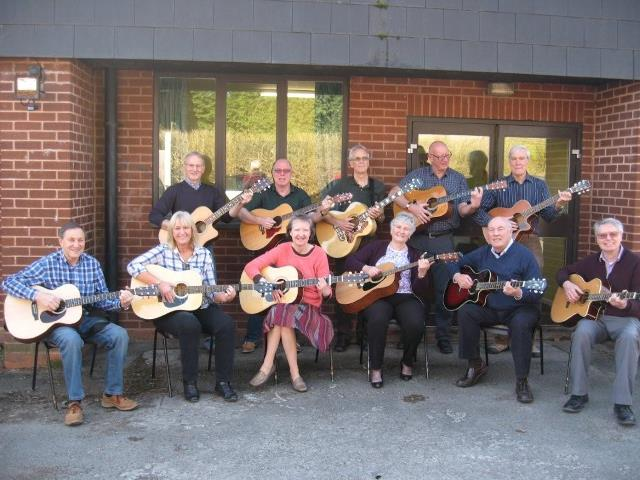 Members of the acoustic guitar 2 group