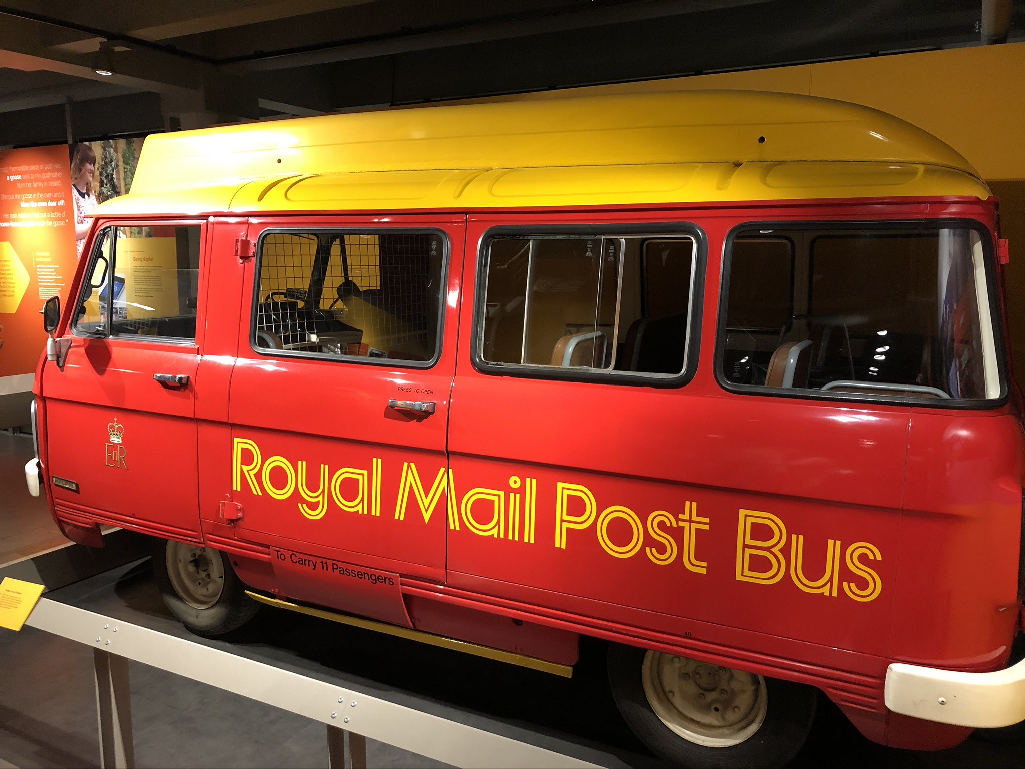 Post van and local bus!