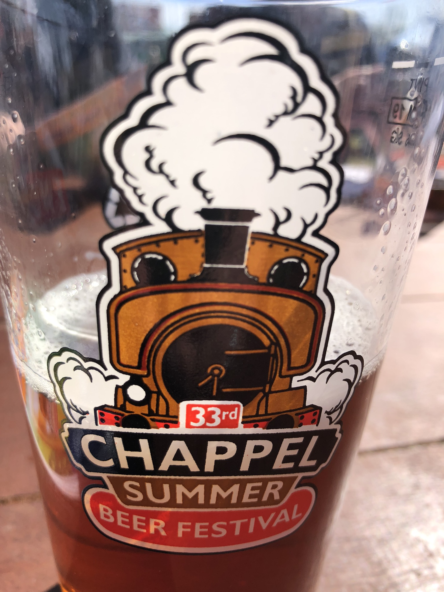 Chappel Summer Beer Festival Glass