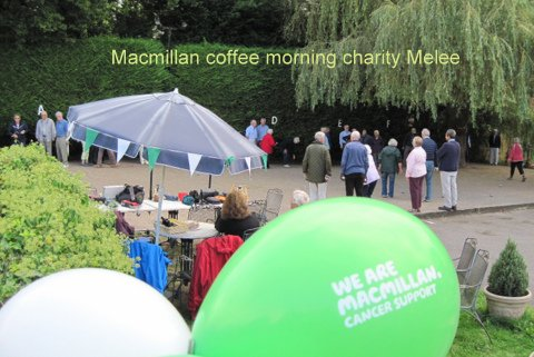 Macmillan coffee morning melee