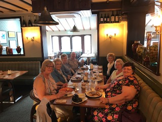 Lunch at the Hare & Hounds in June