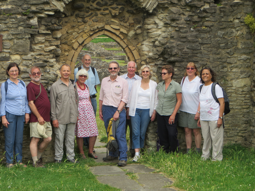 Out and about group at Lesnes Abbey