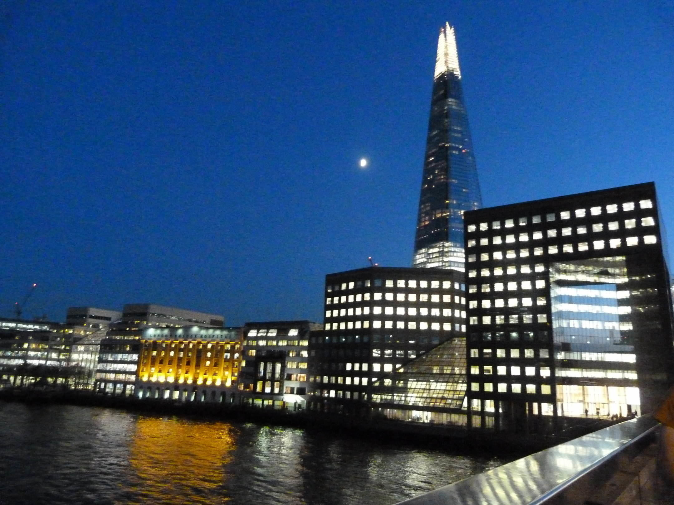 Moonlight over the Shard  by Linda