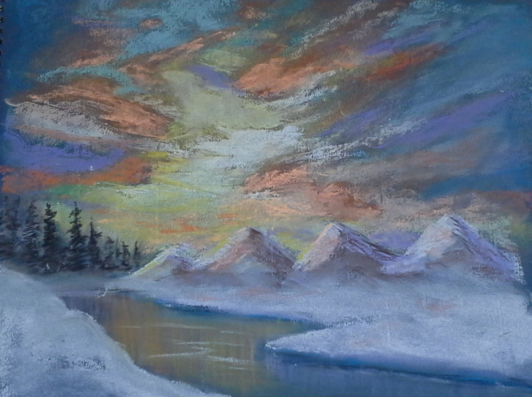 Val Taylor - Winter mountains in pastels