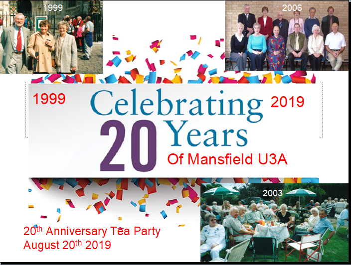 Mansfield U3A 20th Birthday