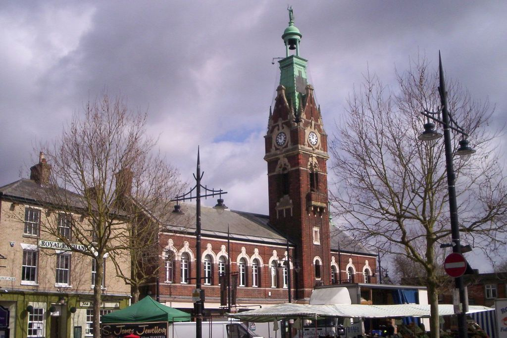 March Town Hall on Market Day