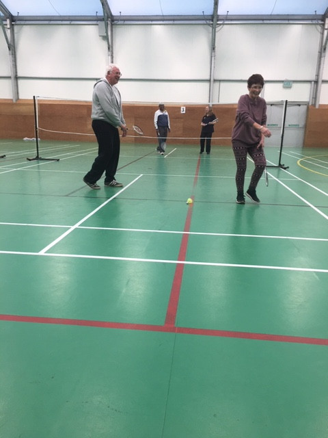 Badminton Group in action