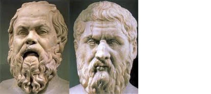 Greek philosophers Socrates and Plato
