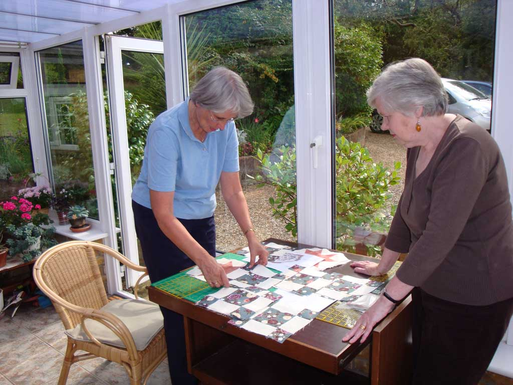 Crafts Group - Preparing a quilt