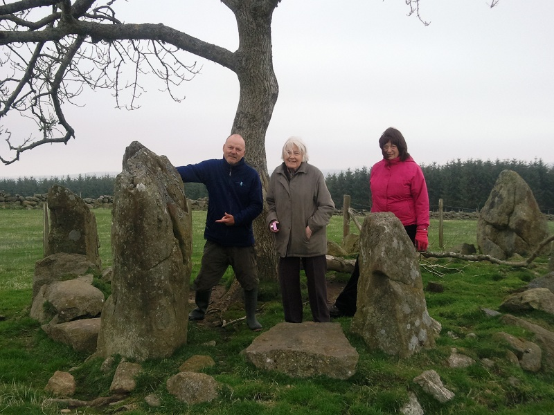 Stone Circle by Culvie Hill