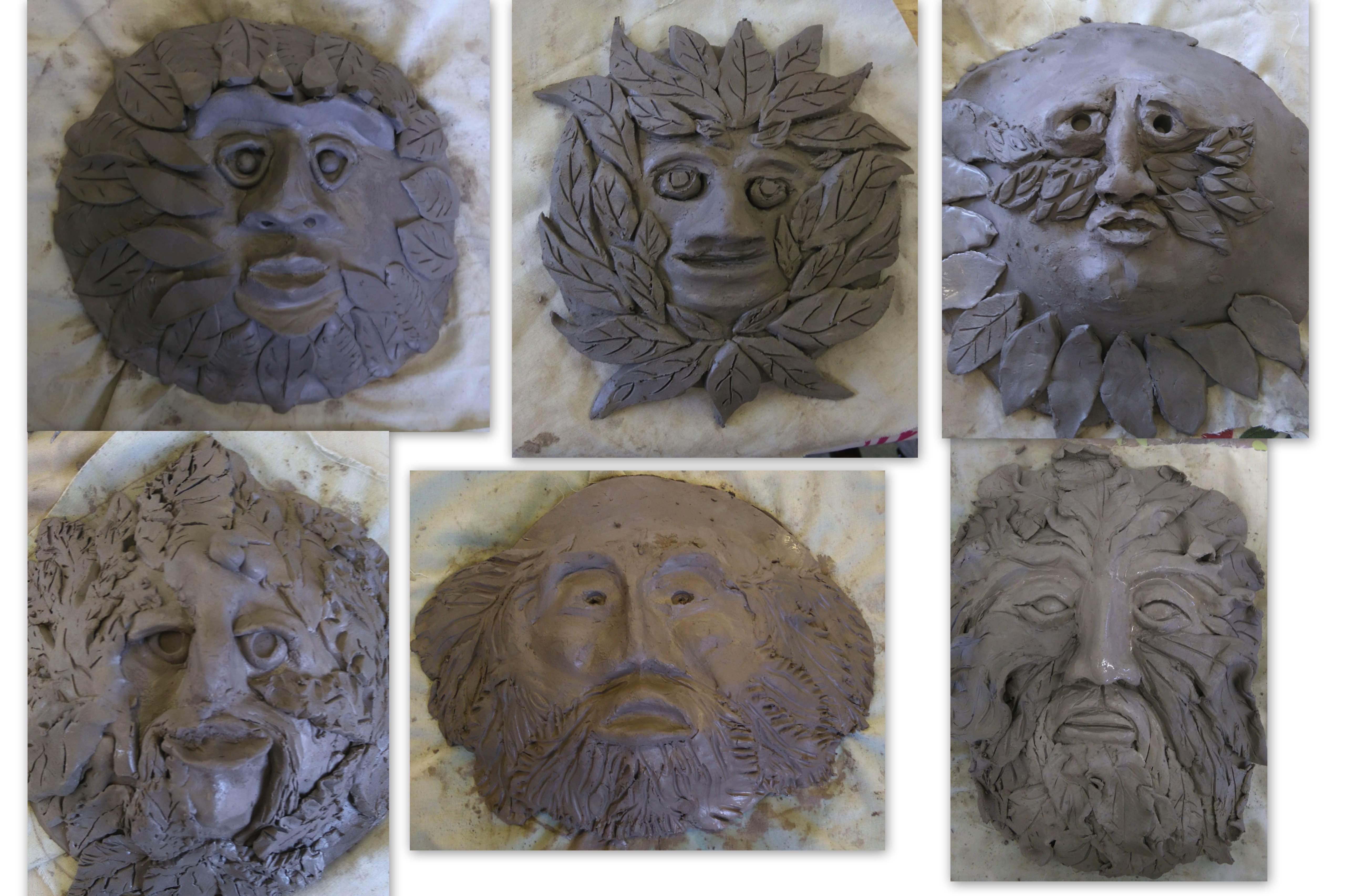 Claywork masks