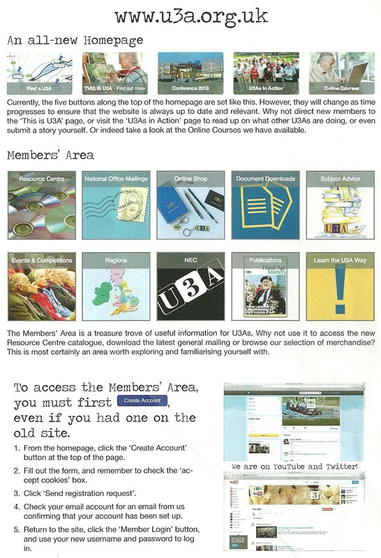 U3a website flyer