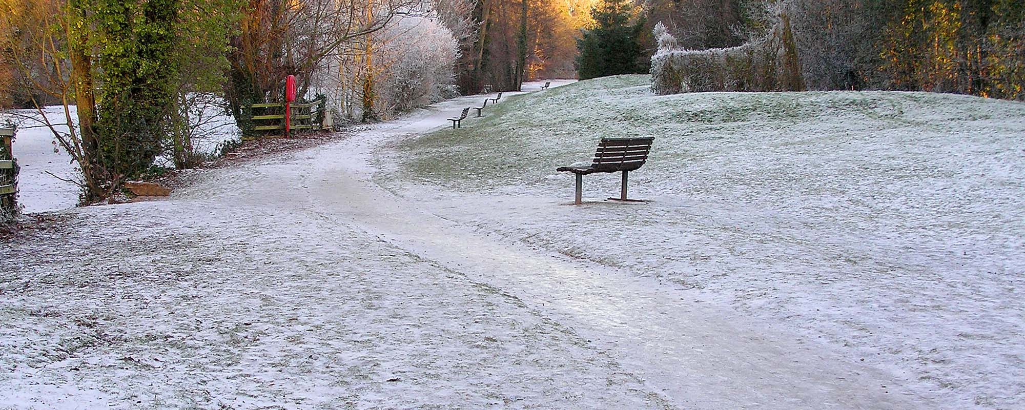 Newent Lake in winter