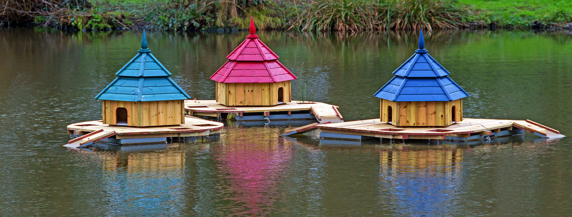 Duck Houses on Newent Lake