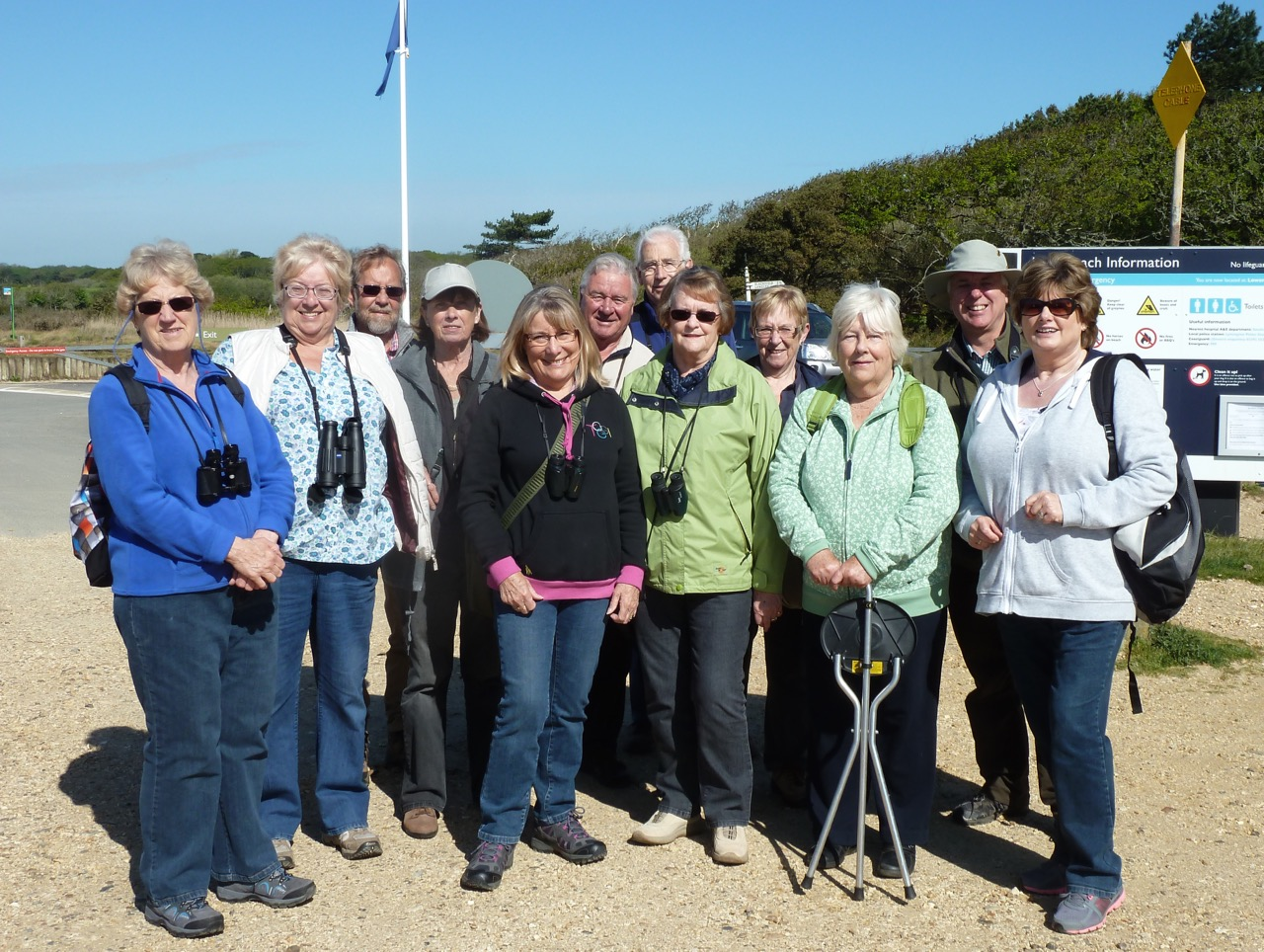 Congregating for our Bird Walk at Lepe