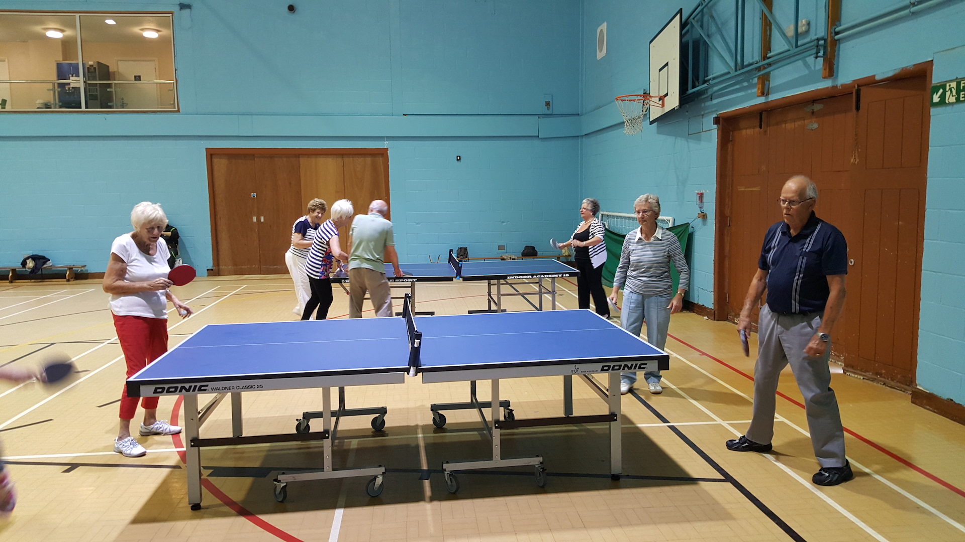 Enjoying an afternoon of Table Tennis