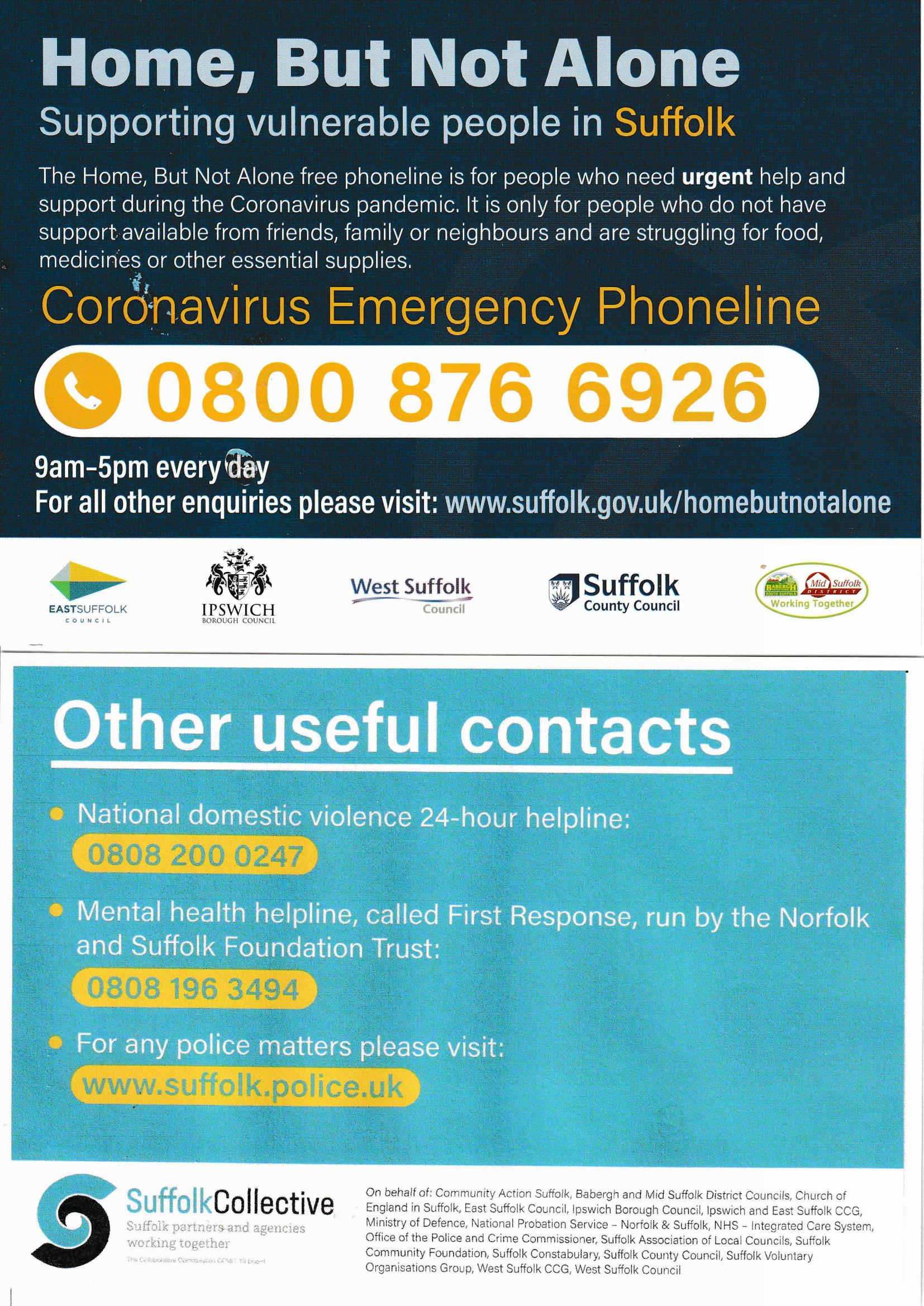 Coronavirus Emergency Phoneline