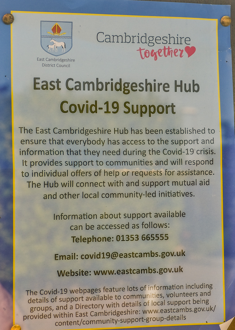 Coronavirus helpline East Cambs