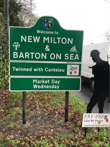 New Milton Town Sign