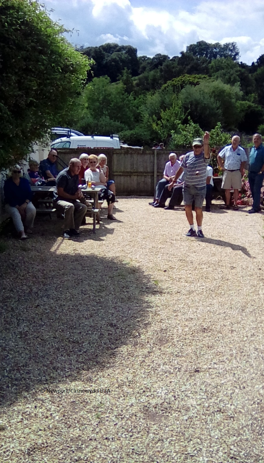 Skittlers playing Boules!