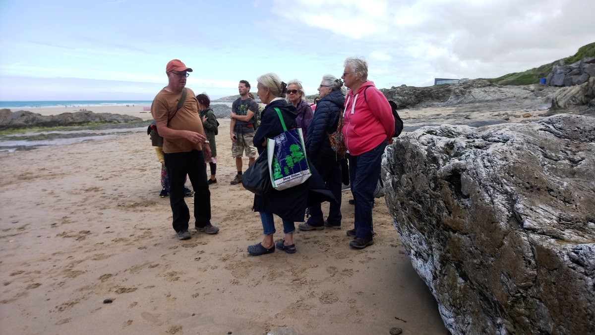 Geology Walk at Fistral Beach