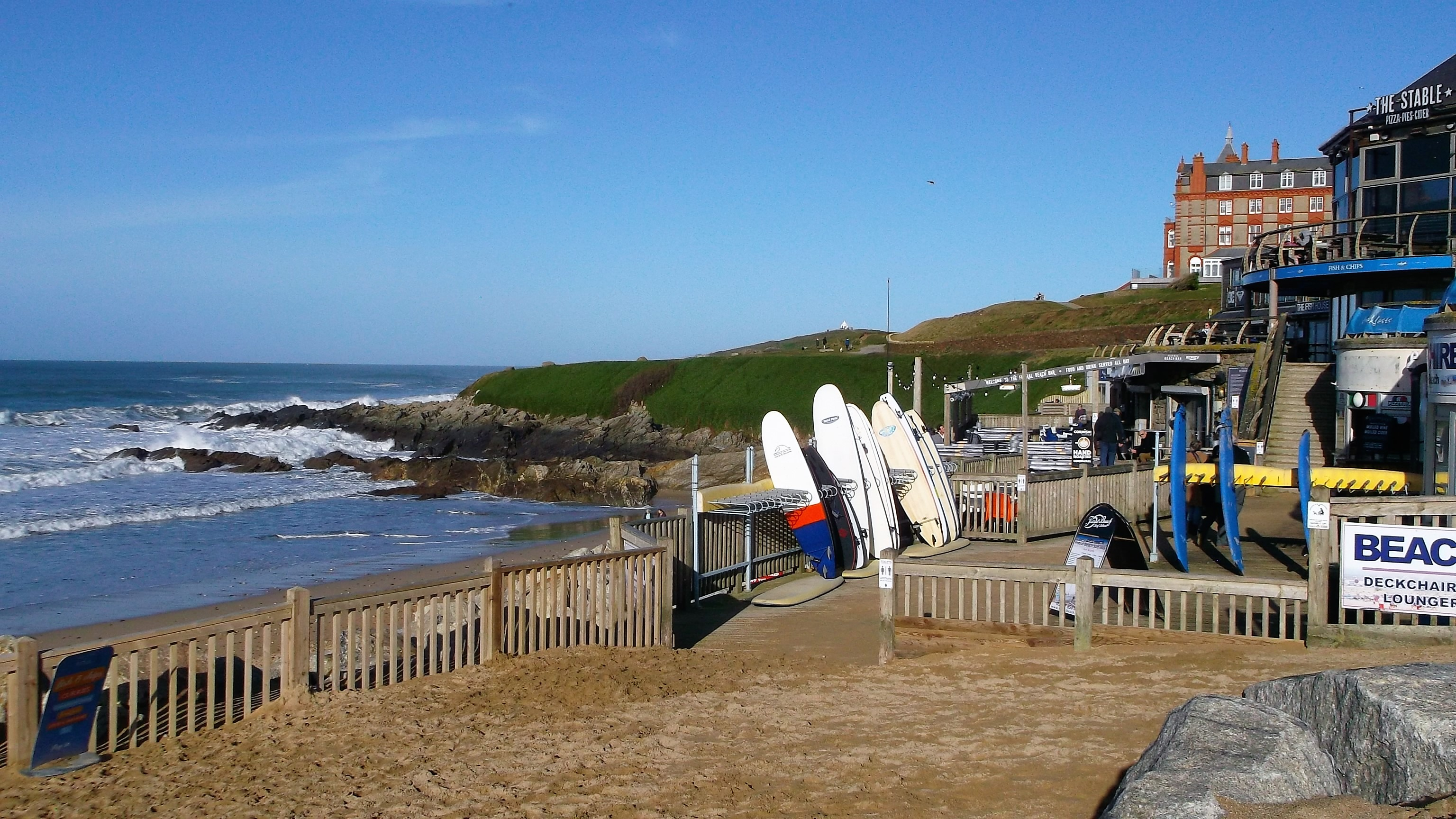 Fistral Beach area