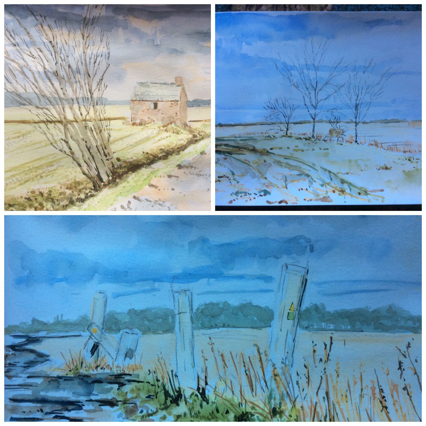 Collage of paintings from Lancashire