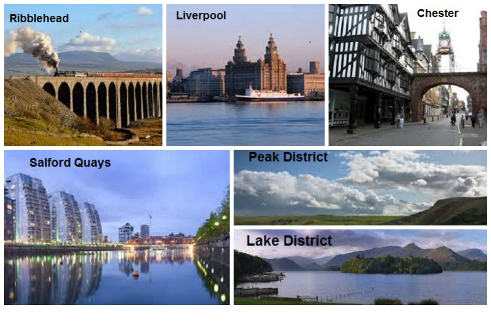 Collage of North West sites