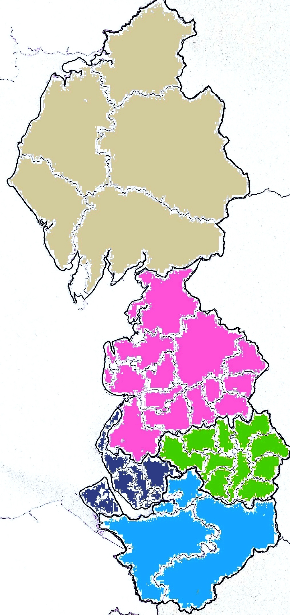 Map of NW Region