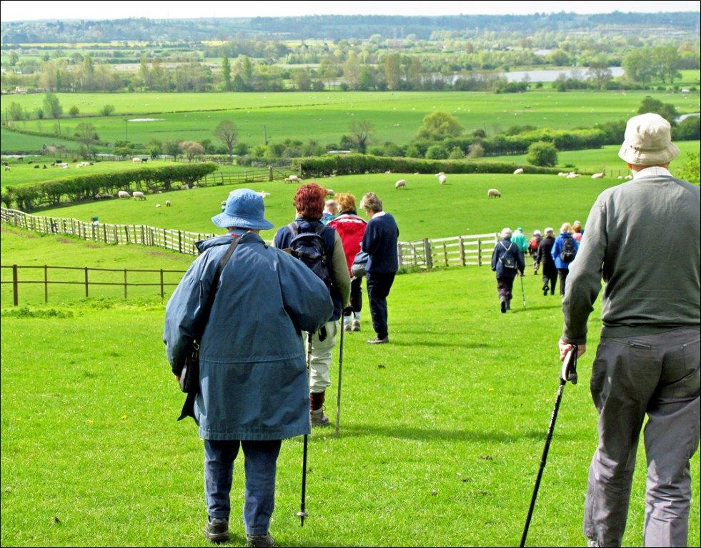 Ramblers enjoying the Northants