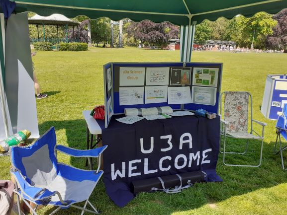 Science table at u3a day 020621