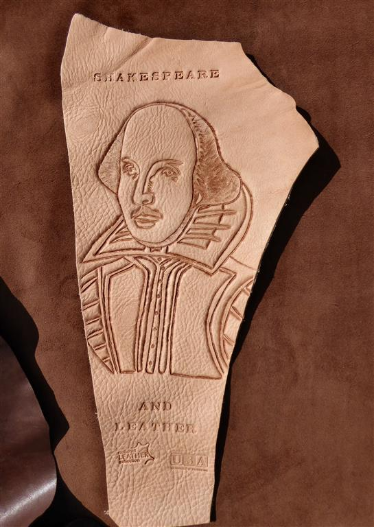 Shakespeare - carved leather