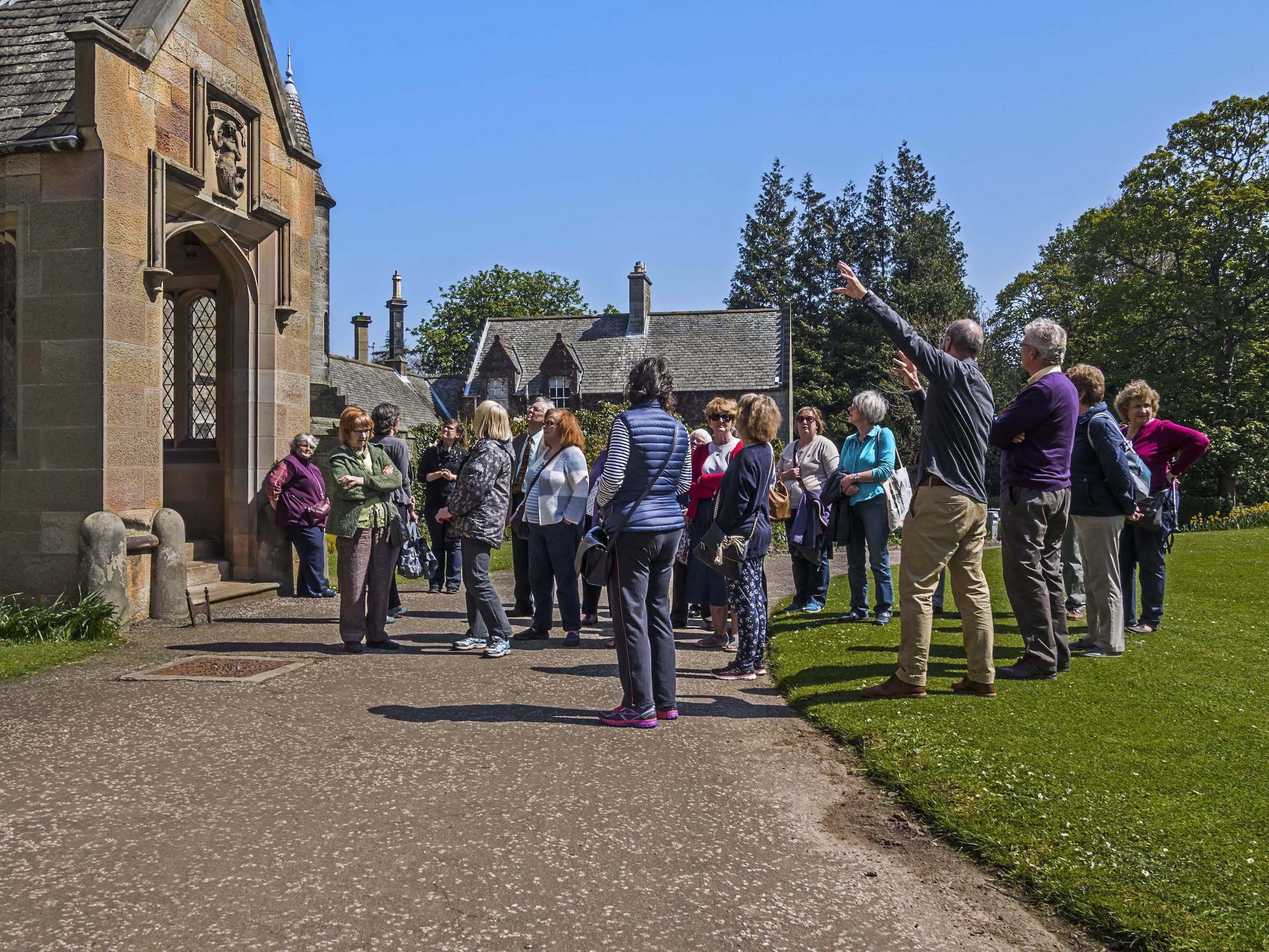 History group visit to Lauriston Castle