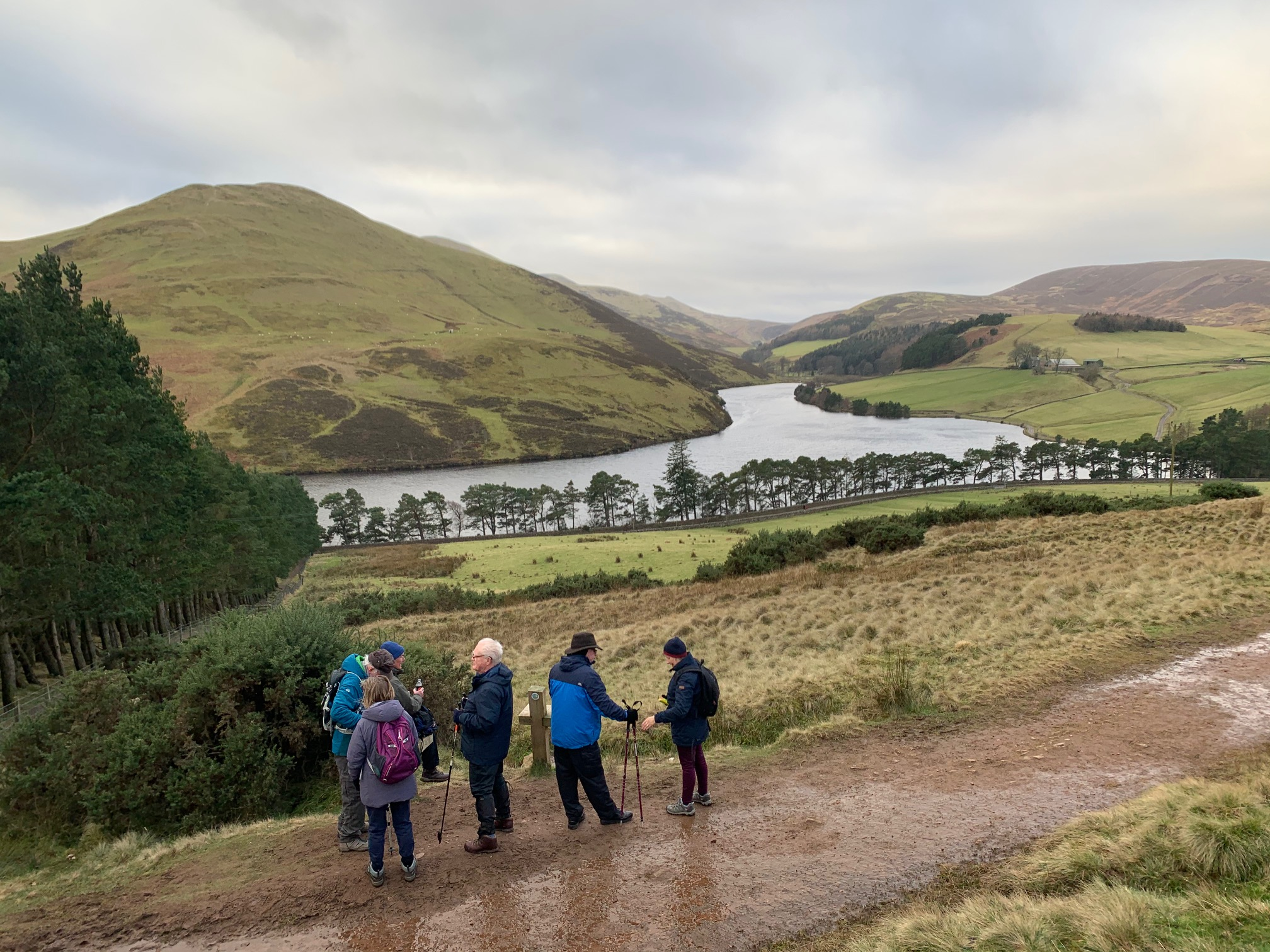 Glencorse Reservoir walk 2020.01