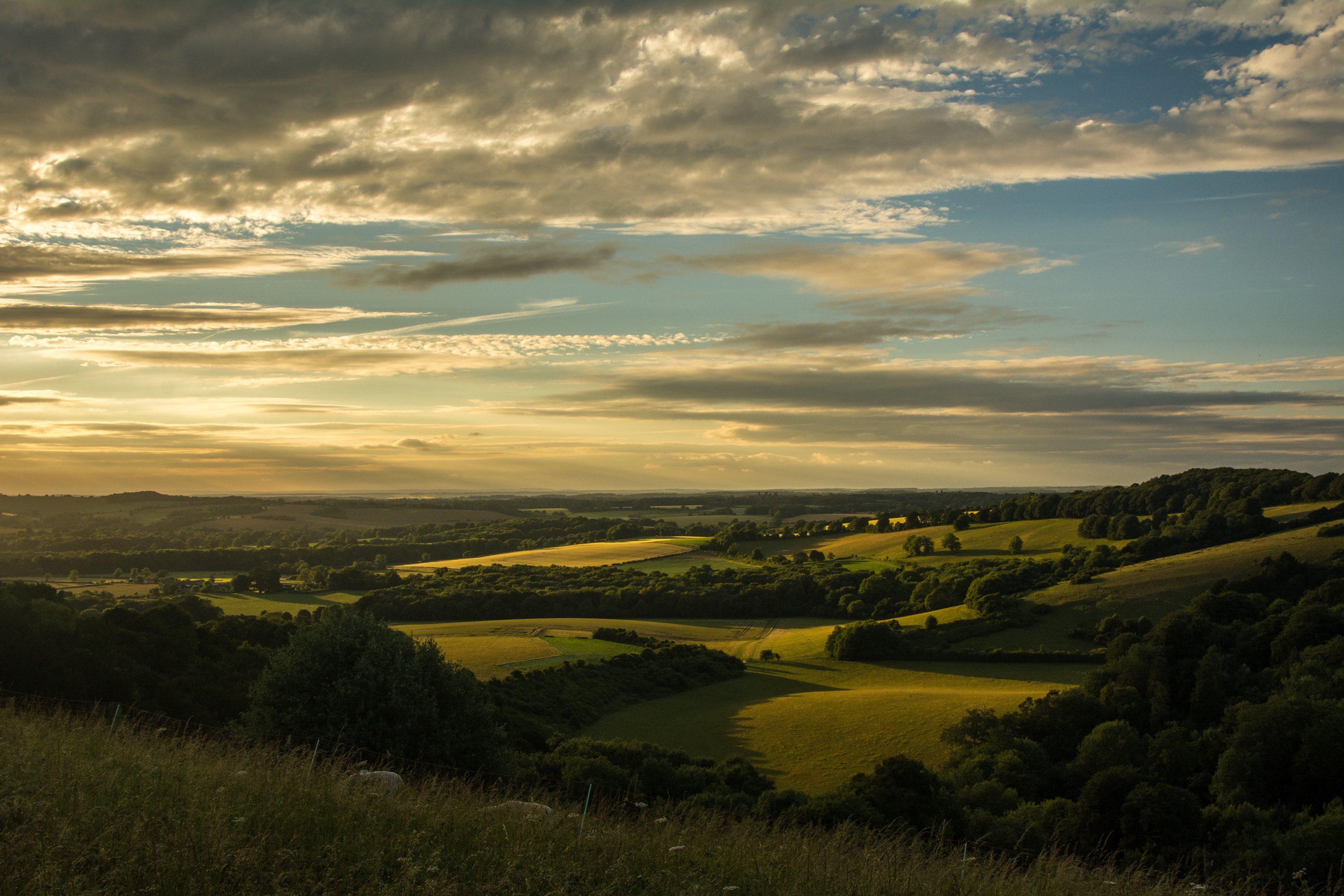 Sunset from Old Winchester Hill