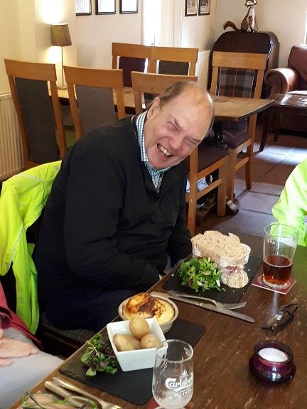 Brian with Big Boy sandwich