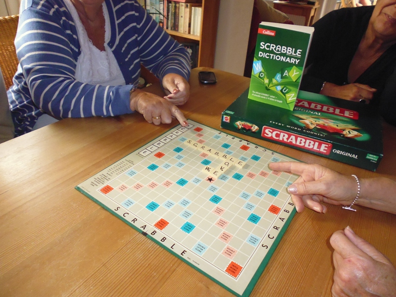 A Scrabble meeting
