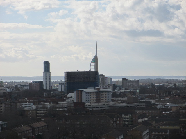 view across Portsmouth from St Mary